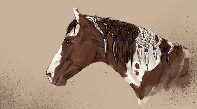 7 arten die m hne deines pferdes einzuflechten herzenspferd. Black Bedroom Furniture Sets. Home Design Ideas