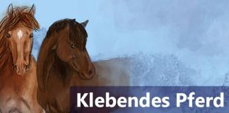Klebendes Pferd führen