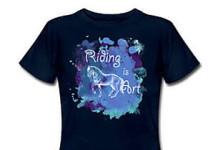 Reiten T-Shirt blau
