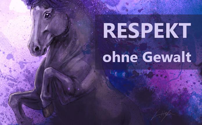 Ein gemaltes, steigendes Pferd.