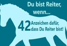 """Umriss Pferd mit Text: """"Du bist reiter wenn... - 42 Anzeichen dafür, dass Du Reiter bist"""""""