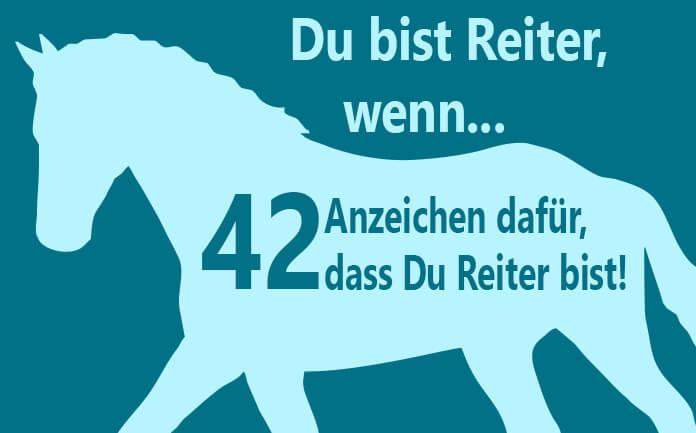 42 Anzeichen Dafur Dass Du Ein Reiter Bist Herzenspferd