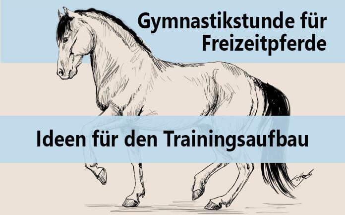 Gezeichnetes piaffierendes Pferd mit Text